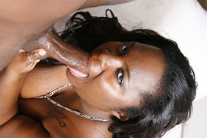 hot black babe sucks cock