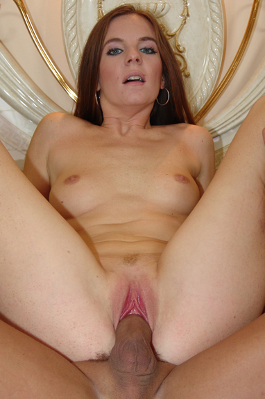 Skinny milf gets poked by a big meat pole